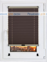 Шторы плиссе.Креп 124, темно-коричневый от производителя жалюзи и рулонных штор РДО
