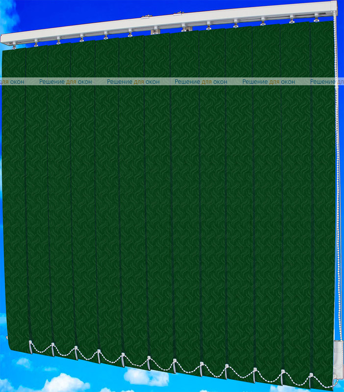Жалюзи вертикальные КРЭШ 14 малахит от производителя жалюзи и рулонных штор РДО