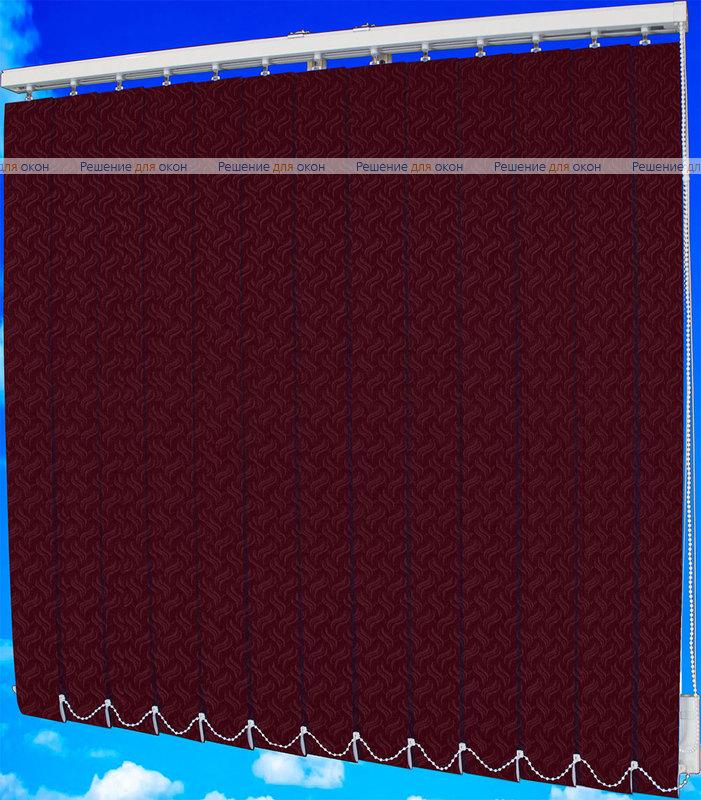 Жалюзи вертикальные КРЭШ 19 бордо от производителя жалюзи и рулонных штор РДО