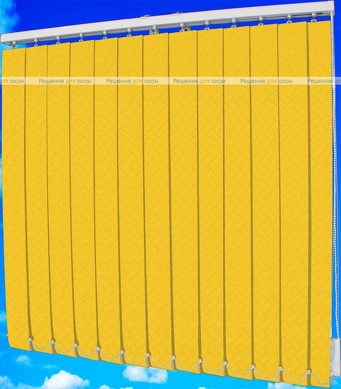 Жалюзи вертикальные КРЭШ 88 желтый от производителя жалюзи и рулонных штор РДО