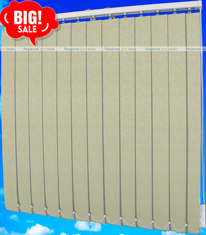 Жалюзи вертикальные ЛЕТО 03 желтый от производителя жалюзи и рулонных штор РДО