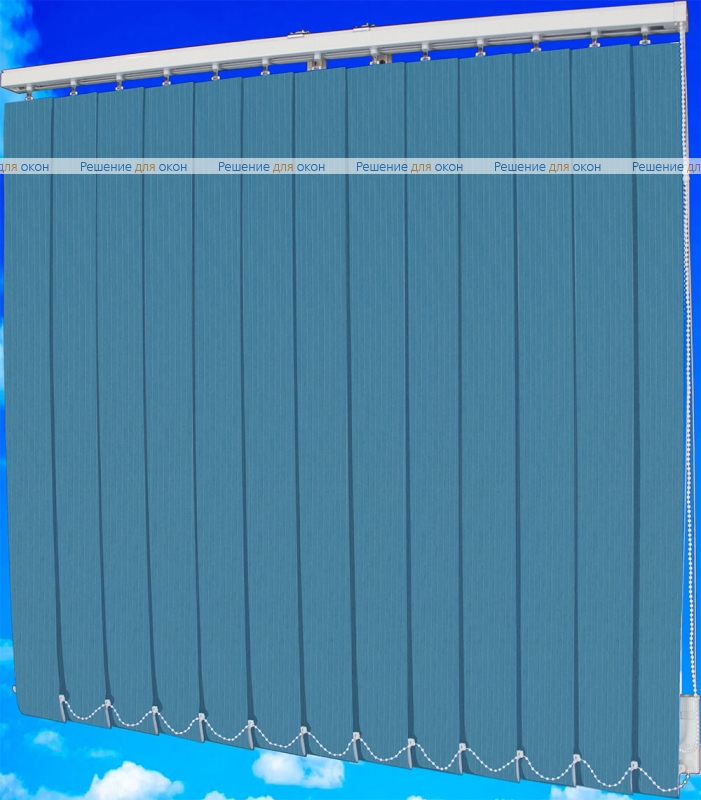 Жалюзи вертикальные ЛАЙН  111 синий от производителя жалюзи и рулонных штор РДО