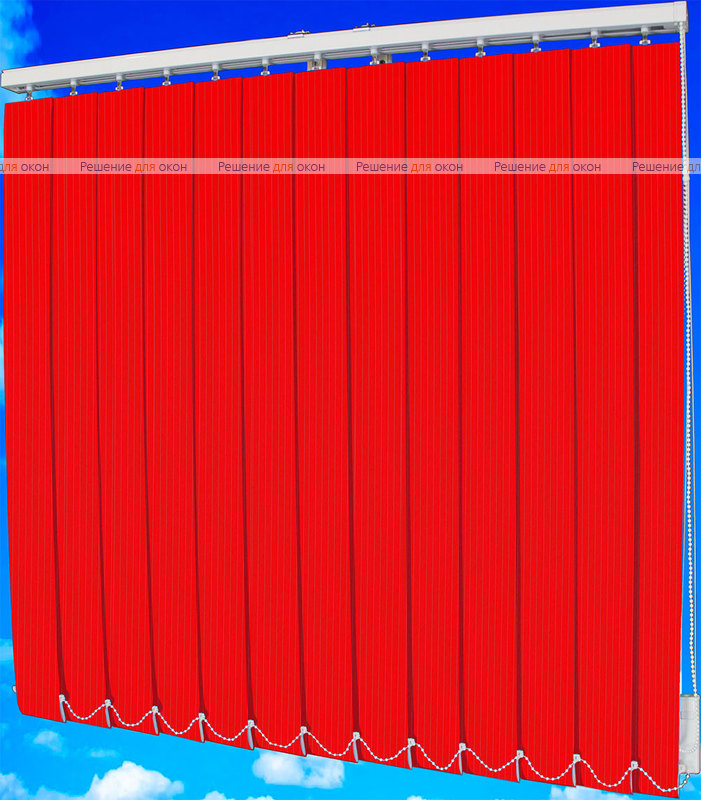 Жалюзи вертикальные ЛАЙН  4077 красный от производителя жалюзи и рулонных штор РДО