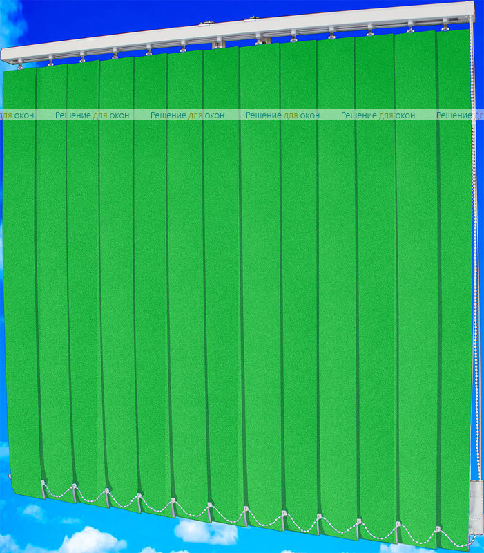 Жалюзи вертикальные ЛЮКС 19 люмин.зеленый от производителя жалюзи и рулонных штор РДО