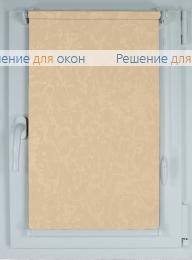 Рулонные шторы КОМПАКТ МИРАКЛ 403 желто-персиковый от производителя жалюзи и рулонных штор РДО