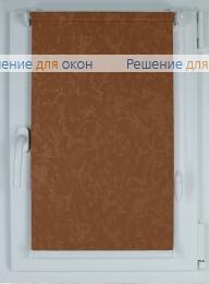 Рулонные шторы КОМПАКТ МИРАКЛ 407 коричневый от производителя жалюзи и рулонных штор РДО