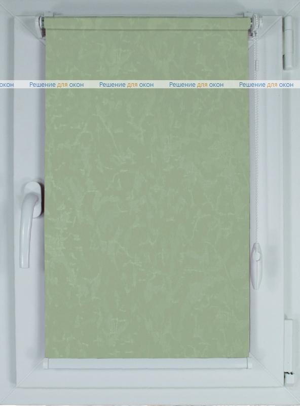 Рулонные шторы КОМПАКТ МИРАКЛ 626 салатовый от производителя жалюзи и рулонных штор РДО