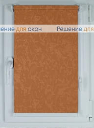 Рулонные шторы КОМПАКТ МИРАКЛ 629 оранжевый от производителя жалюзи и рулонных штор РДО