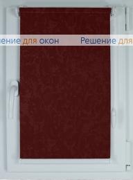 Рулонные шторы КОМПАКТ МИРАКЛ 661 вишневый от производителя жалюзи и рулонных штор РДО