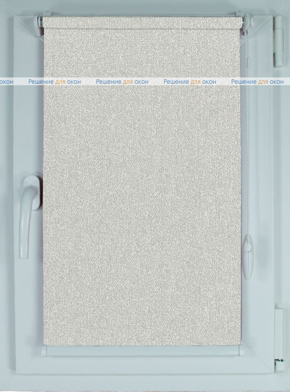 Рулонные шторы КОМПАКТ МИРАНДА 920 Светлый алюминий от производителя жалюзи и рулонных штор РДО