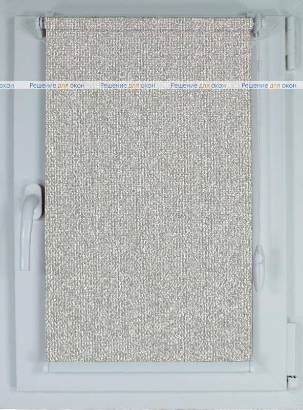 Рулонные шторы КОМПАКТ МИРАНДА 932 Серый шелк от производителя жалюзи и рулонных штор РДО