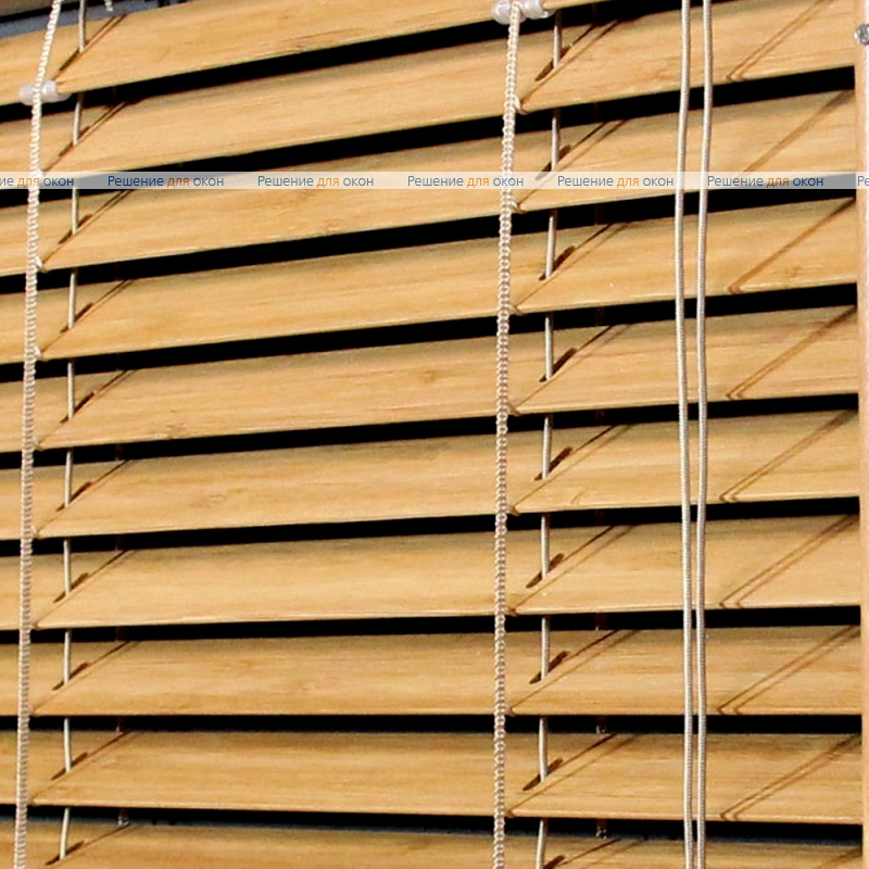 Жалюзи горизонтальные 25 мм, арт. Oak бамбук от производителя жалюзи и рулонных штор РДО