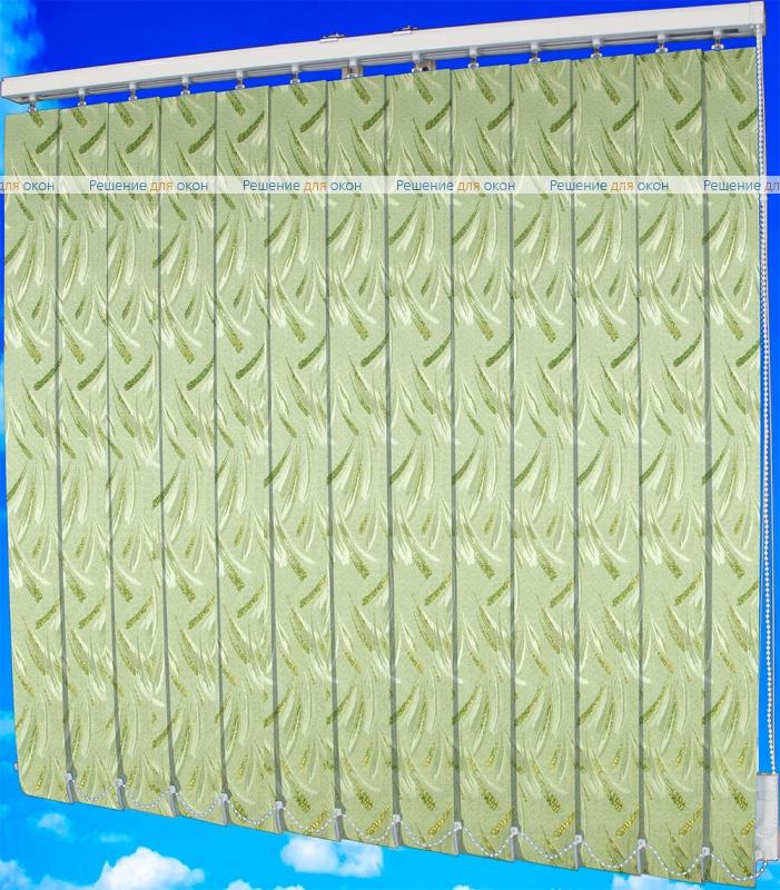 Жалюзи вертикальные ПАЛОМА классик 148 зеленый металлик от производителя жалюзи и рулонных штор РДО