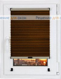 Шторы плиссе.ДУО Папирус 10, темно-коричневый от производителя жалюзи и рулонных штор РДО