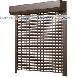 Рольставни для витрин, Профиль AEG56  Коричневый от производителя жалюзи и рулонных штор РДО