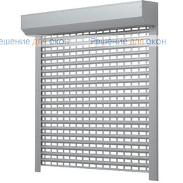 Решетчатые рольставни, Профиль AEG84  Серый от производителя жалюзи и рулонных штор РДО