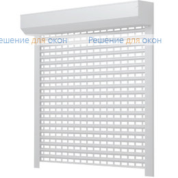 Рольставни для витрин, Профиль AEG56 Белый от производителя жалюзи и рулонных штор РДО
