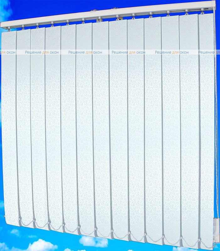 Жалюзи вертикальные РОКОКО 0225 белый от производителя жалюзи и рулонных штор РДО