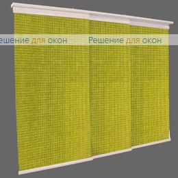 4 - рядный карниз, Японская штора Кулисс 4-х рядный карниз БОСТОН 4167 желто-зелёный от производителя жалюзи и рулонных штор РДО