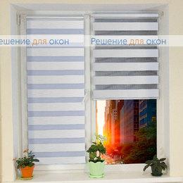 Компакт Зебра на створку окна, Компакт Зебра КАСКАД 1, белый от производителя жалюзи и рулонных штор РДО
