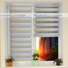 Компакт Зебра на створку окна, Компакт Зебра КАСКАД 3, бежевый от производителя жалюзи и рулонных штор РДО