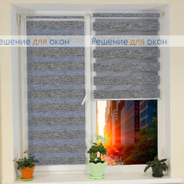 Компакт Зебра на створку окна, Компакт Зебра ВЕГА 11, серый от производителя жалюзи и рулонных штор РДО