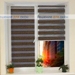 Компакт Зебра на створку окна, Компакт Зебра ВЕГА 13, темно-коричневый от производителя жалюзи и рулонных штор РДО