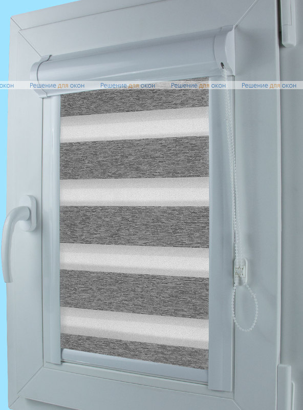 Уни Зебра ВЕГА 11, серый от производителя жалюзи и рулонных штор РДО