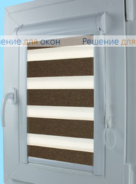 Уни Зебра ВЕГА 13, темно-коричневый от производителя жалюзи и рулонных штор РДО